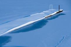 Spokojny jetty w zimie Obrazy Royalty Free