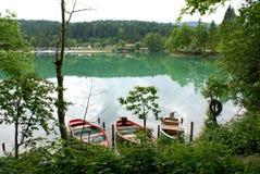 Spokojny jezioro w Niemcy Zdjęcia Royalty Free