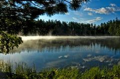 Spokojny jezioro wśród drzew Zdjęcia Royalty Free