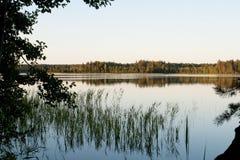 Spokojny jezioro w Rosja obraz royalty free