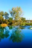 Spokojny jezioro w utrzymanej naturze Fotografia Royalty Free