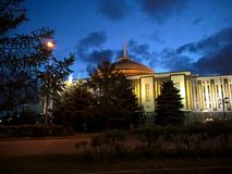Spokojny lato evening Moskwa parka Rosja Zdjęcie Royalty Free