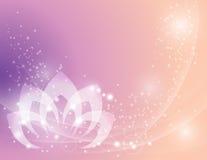 Spokojny Lotosowego kwiatu tło ilustracji