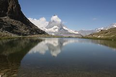Spokojny Matterhorn obrazy stock