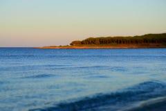 Spokojny morze w Sardinia Obrazy Royalty Free
