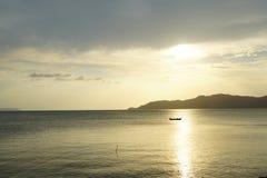 Spokojny morze w wieczór Zdjęcie Stock