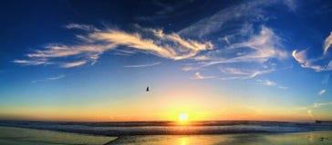 spokojny ocean słońca Obrazy Stock
