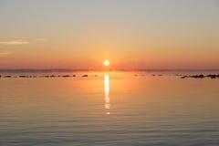 Spokojny pastelowy wschód słońca Obrazy Stock