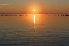 Spokojny pastelowy wschód słońca Fotografia Stock