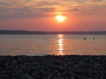 Spokojny plażowy zmierzch Fotografia Stock