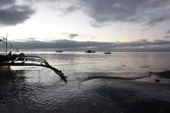 Spokojny Seashore przy świtem Zdjęcia Royalty Free