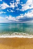 Spokojny turkusowy morze obrazy royalty free