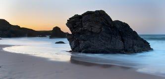 Spokojny wieczór na Durness plaży Zdjęcia Stock