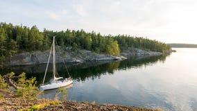 Spokojny wieczór w archipelagu Zdjęcia Royalty Free