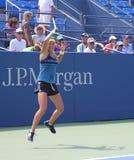 Den storslagna Slammästare Victoria Azarenka övar för US öppnar på tennis Cente för den Billie Jean konungmedborgare Arkivbild