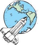 Spola in orbita royalty illustrazione gratis