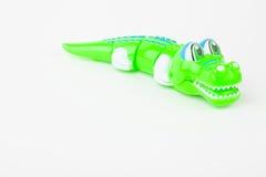 Spola upp krokodilleksaker fotografering för bildbyråer