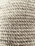 Spole av för manila för tre tråd rop fiber Arkivbilder