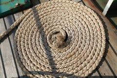 Spole av repet eller hampa för att förtöja rep Arkivfoto