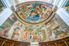 Frescoed apse by Filippo Lippi, in the Duomo of Spoleto. Umbria, central Italy. royalty free stock photos