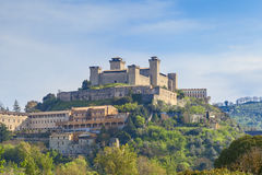 Spoleto castle royalty free stock photo