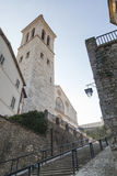 Spoleto cathedral Stock Images