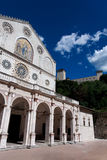 Spoleto Cathedral and Fortress, Italy Royalty Free Stock Photography