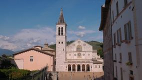 Spoleto Cathedral in Umbria, Italy.  stock video footage
