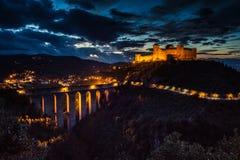 Spoleto city at night, Umbria - Italy. Royalty Free Stock Image