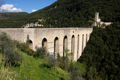 Spoleto, delle Torri di Ponte Immagini Stock Libere da Diritti