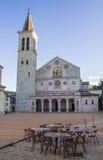 Spoleto domkyrka i morgonen royaltyfri fotografi