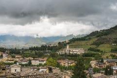 Spoleto, Itália - uma cidade medieval encantador na região de Úmbria Fotos de Stock Royalty Free