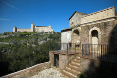 Spoleto (Italië): Rocca (Paleis Albornoz) Stock Afbeeldingen