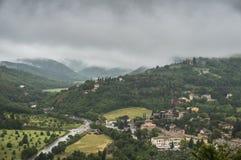Spoleto, Italien - eine reizend mittelalterliche Stadt in Umbrien-Region Lizenzfreie Stockbilder