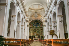 Spoleto Main Cathedral Interiors stock image