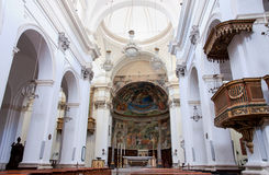 Spoleto's Cathedral Interior Royalty Free Stock Photography