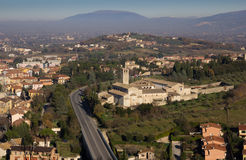 Spoleto town in Umbria Stock Photography