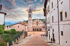 Spoleto, Umbria, Italy: cathedral of Santa Maria Assunta stock images
