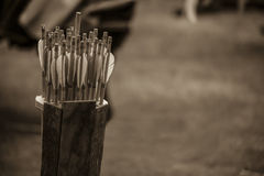 Spoletta delle frecce Immagini Stock Libere da Diritti