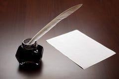 Spoletta, inchiostro e documento fotografia stock libera da diritti