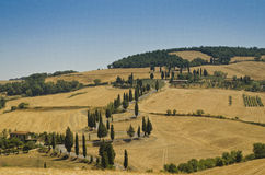 Spolningsväg i Tuscany - Italien Arkivbild
