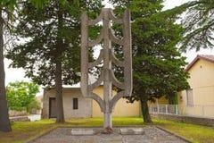 Spomenik en Krnica imagen de archivo libre de regalías