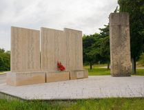 Spomenik Outside Barban. Barban, Croatia - August 31st 2018. A commemorative memorial dedicated to those who died fighting fascism during the second world war royalty free stock images