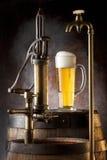 Spon, uiteinde en bier Stock Foto's