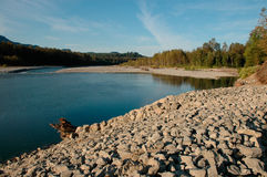 Sponda del fiume di Skykomish Fotografia Stock