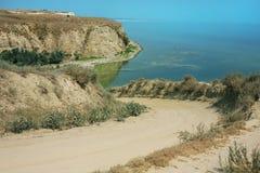 sponda del fiume Volga Fotografia Stock