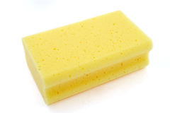 Sponge 1. Close up of kitchen sponge for do the dishes on white background with clipping path royalty free stock images