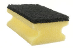 Sponge. Yellow and black sponge close up Stock Images