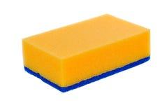 Sponge. Orange sponge isolated on white background Royalty Free Stock Photography
