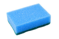 Sponge. Blue sponge for dish washing on white background Royalty Free Stock Image